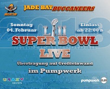 Super Bowl live im Pumpwerk